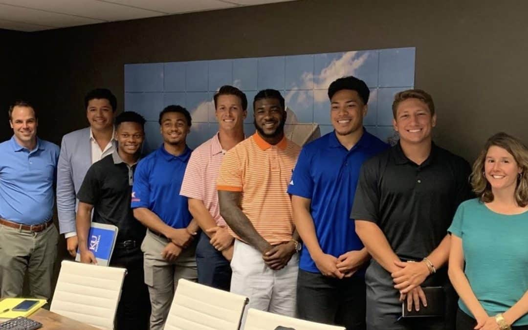 KU Football Players Learn Real Estate from Clemons