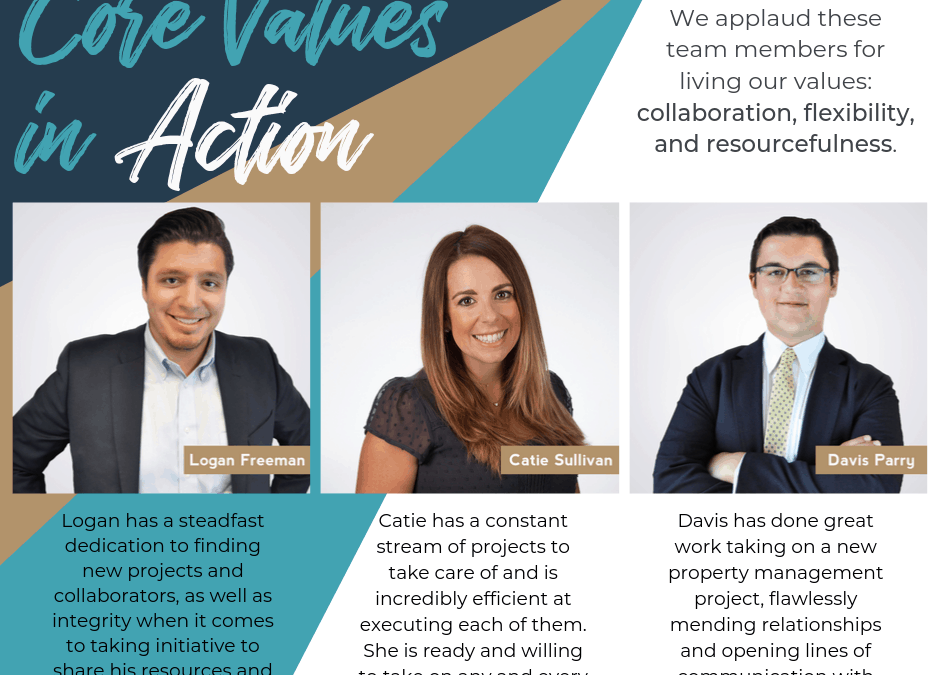 Core Values in Action – August