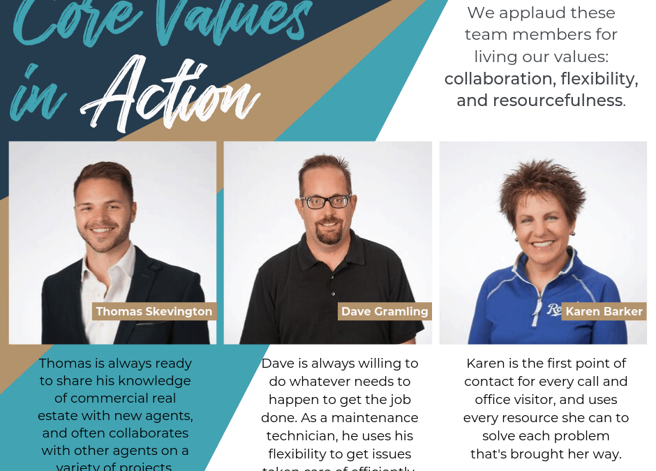 Core Values in Action – September